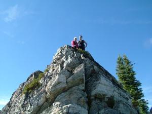 Jeni and Lisa on the Stevens Peak summit